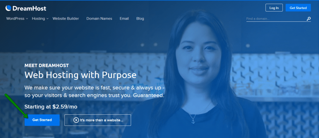 חברת אחסון מומלצת dreamhost
