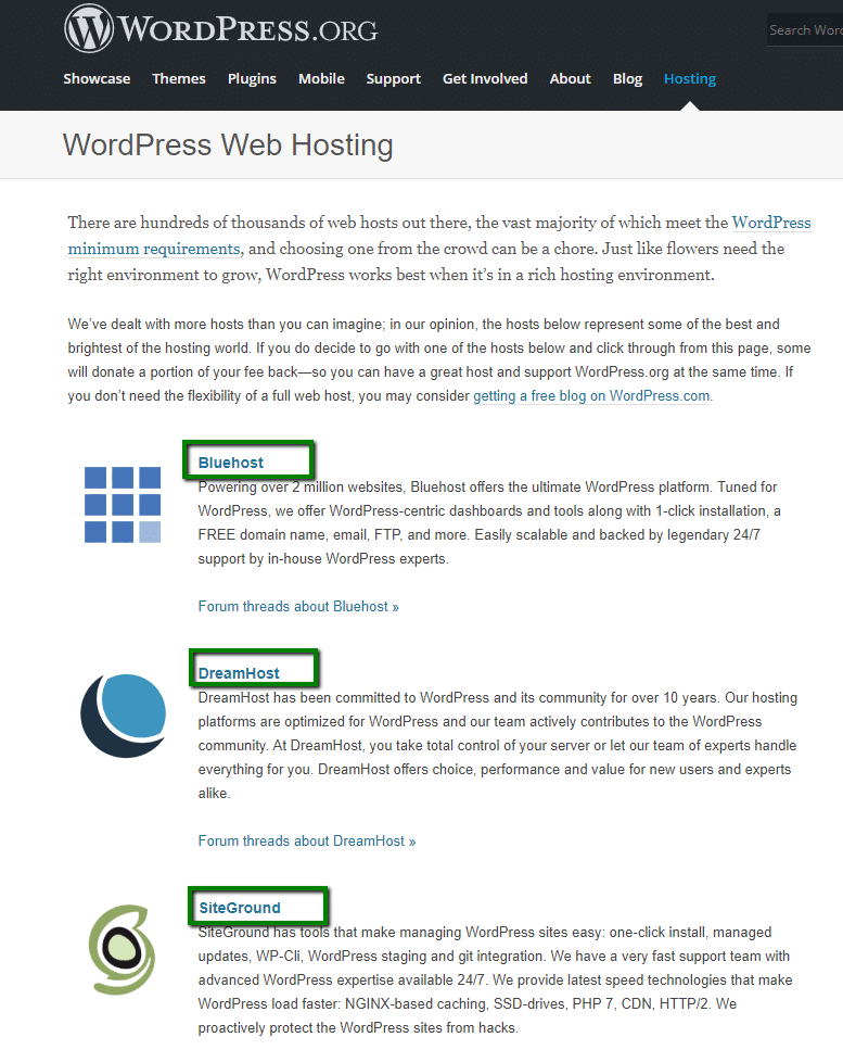 חברות אתרים מומלצות על ידי ארגון הוורדפרס העולמי